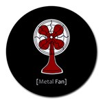 Metal Fan Round Mousepads Front