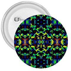 Cool Green Blue Yellow Design 3  Buttons by Costasonlineshop