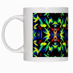 Cool Green Blue Yellow Design White Mugs by Costasonlineshop