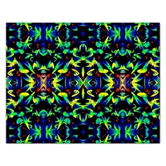 Cool Green Blue Yellow Design Rectangular Jigsaw Puzzl by Costasonlineshop