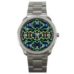 Cool Green Blue Yellow Design Sport Metal Watches by Costasonlineshop