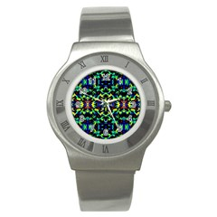 Cool Green Blue Yellow Design Stainless Steel Watches by Costasonlineshop