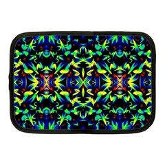 Cool Green Blue Yellow Design Netbook Case (medium)  by Costasonlineshop