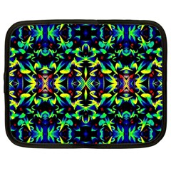 Cool Green Blue Yellow Design Netbook Case (large) by Costasonlineshop