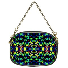Cool Green Blue Yellow Design Chain Purses (one Side)  by Costasonlineshop
