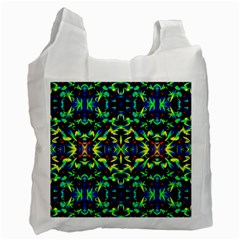 Cool Green Blue Yellow Design Recycle Bag (two Side)  by Costasonlineshop
