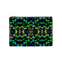 Cool Green Blue Yellow Design Cosmetic Bag (medium)  by Costasonlineshop