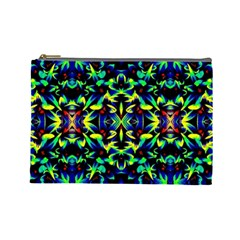 Cool Green Blue Yellow Design Cosmetic Bag (large)  by Costasonlineshop