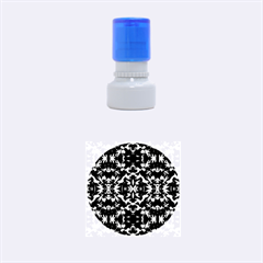 Cool Green Blue Yellow Design Rubber Round Stamps (small)