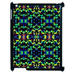 Cool Green Blue Yellow Design Apple Ipad 2 Case (black) by Costasonlineshop