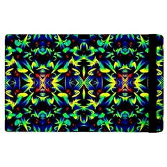 Cool Green Blue Yellow Design Apple Ipad 2 Flip Case by Costasonlineshop