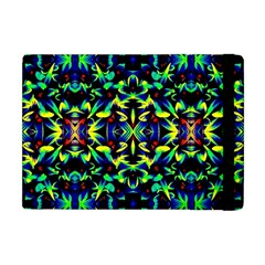 Cool Green Blue Yellow Design Apple Ipad Mini Flip Case by Costasonlineshop