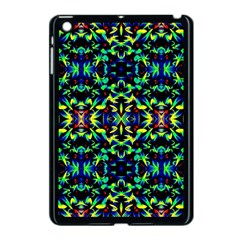 Cool Green Blue Yellow Design Apple Ipad Mini Case (black) by Costasonlineshop