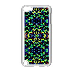 Cool Green Blue Yellow Design Apple Ipod Touch 5 Case (white) by Costasonlineshop