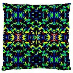 Cool Green Blue Yellow Design Standard Flano Cushion Cases (two Sides)  by Costasonlineshop