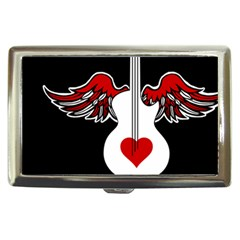 Flying Heart Guitar Cigarette Money Case by waywardmuse