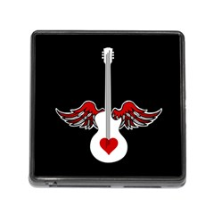 Flying Heart Guitar Memory Card Reader (square) by waywardmuse