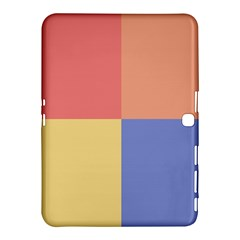 4 Squares			samsung Galaxy Tab 4 (10 1 ) Hardshell Case by LalyLauraFLM