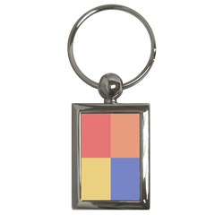 4 Squares			key Chain (rectangle) by LalyLauraFLM
