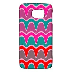 Waves Pattern			samsung Galaxy S6 Hardshell Case by LalyLauraFLM