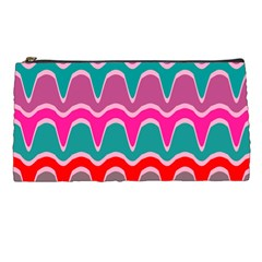 Waves Pattern 	pencil Case by LalyLauraFLM