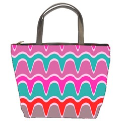 Waves Pattern 	bucket Bag by LalyLauraFLM