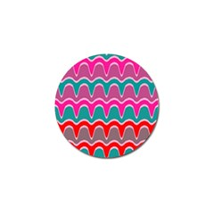 Waves Pattern			golf Ball Marker (4 Pack) by LalyLauraFLM