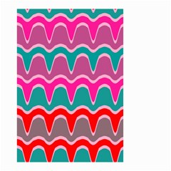 Waves Pattern Small Garden Flag by LalyLauraFLM