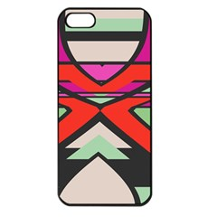 Shapes In Retro Colors			apple Iphone 5 Seamless Case (black) by LalyLauraFLM