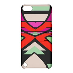 Shapes In Retro Colors			apple Ipod Touch 5 Hardshell Case With Stand by LalyLauraFLM