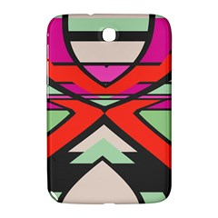 Shapes In Retro Colors			samsung Galaxy Note 8 0 N5100 Hardshell Case by LalyLauraFLM