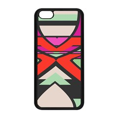 Shapes In Retro Colors			apple Iphone 5c Seamless Case (black) by LalyLauraFLM