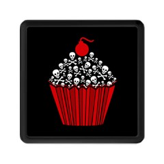 Skull Cupcake Memory Card Reader (square) by waywardmuse