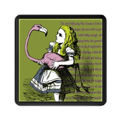 Flamingo Croquet Memory Card Reader (square)  by waywardmuse