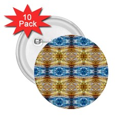 Gold And Blue Elegant Pattern 2 25  Buttons (10 Pack)  by Costasonlineshop