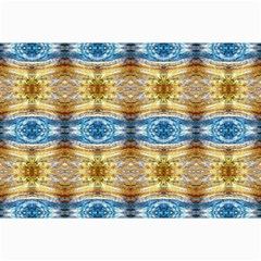 Gold And Blue Elegant Pattern Collage 12  X 18  by Costasonlineshop
