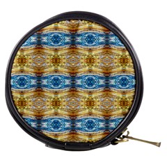 Gold And Blue Elegant Pattern Mini Makeup Bags by Costasonlineshop
