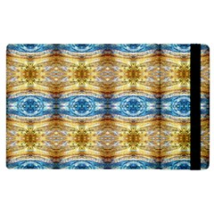 Gold And Blue Elegant Pattern Apple Ipad 2 Flip Case by Costasonlineshop