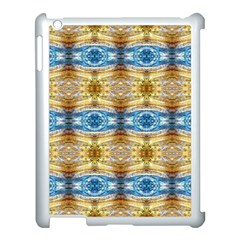 Gold And Blue Elegant Pattern Apple Ipad 3/4 Case (white) by Costasonlineshop