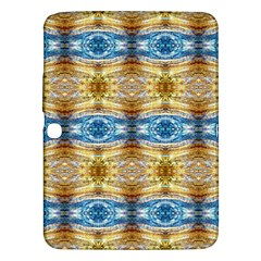 Gold And Blue Elegant Pattern Samsung Galaxy Tab 3 (10 1 ) P5200 Hardshell Case  by Costasonlineshop