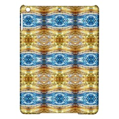 Gold And Blue Elegant Pattern Ipad Air Hardshell Cases by Costasonlineshop