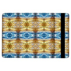 Gold And Blue Elegant Pattern Ipad Air Flip by Costasonlineshop