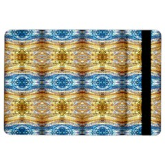Gold And Blue Elegant Pattern Ipad Air 2 Flip by Costasonlineshop