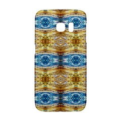 Gold And Blue Elegant Pattern Galaxy S6 Edge by Costasonlineshop
