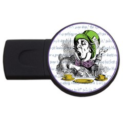 The Mad Hatter Usb Flash Drive Round (4 Gb)  by waywardmuse