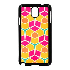 Shapes In Retro Colors Pattern			samsung Galaxy Note 3 Neo Hardshell Case (black) by LalyLauraFLM