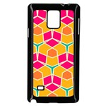 Shapes in retro colors pattern			Samsung Galaxy Note 4 Case (Black) Front
