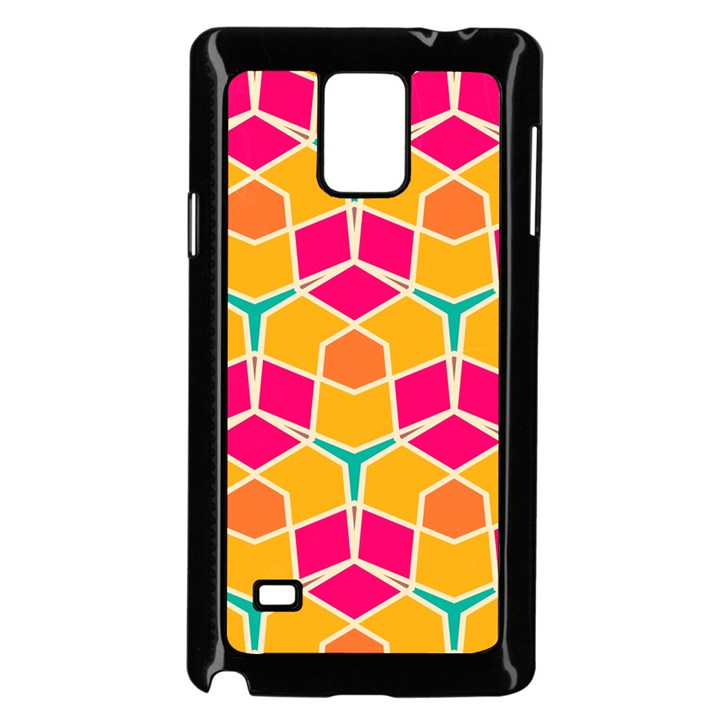 Shapes in retro colors pattern			Samsung Galaxy Note 4 Case (Black)