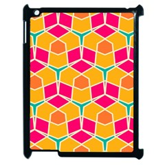 Shapes In Retro Colors Pattern			apple Ipad 2 Case (black) by LalyLauraFLM