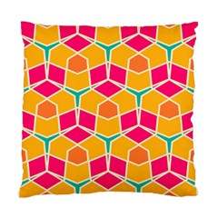 Shapes In Retro Colors Pattern 	standard Cushion Case (two Sides) by LalyLauraFLM